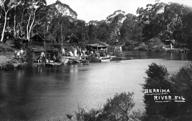 German Internees and visiting families at the river, Berrima NSW