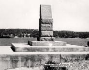 Memorial to Matthew Flinders and George Bass, discoverers of Port Hacking in 1796, ca. 1950s -- picture