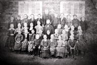 Class photograph at Grossie School, Denmark, 1872 -- picture